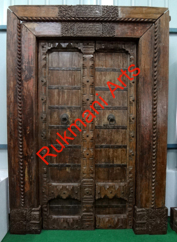 Antique Haveli Rajasthani Doors India, Teakwood Doors, Teak wood doors,  Rajasthani Antique Haveli door Designs, Ethnic Doors, Reproduction Old Doors,  ... - Antique Haveli Rajasthani Doors India, Teakwood Doors, Teak Wood