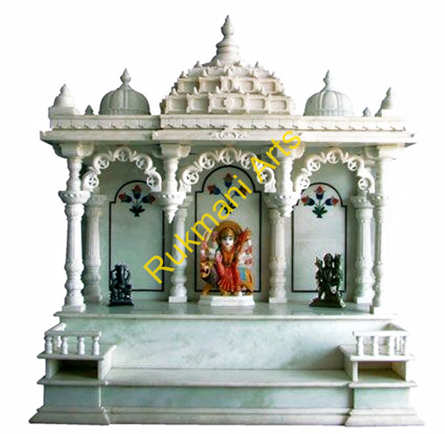 Stunning Marble Temple Design For Home Images - Interior Design ...